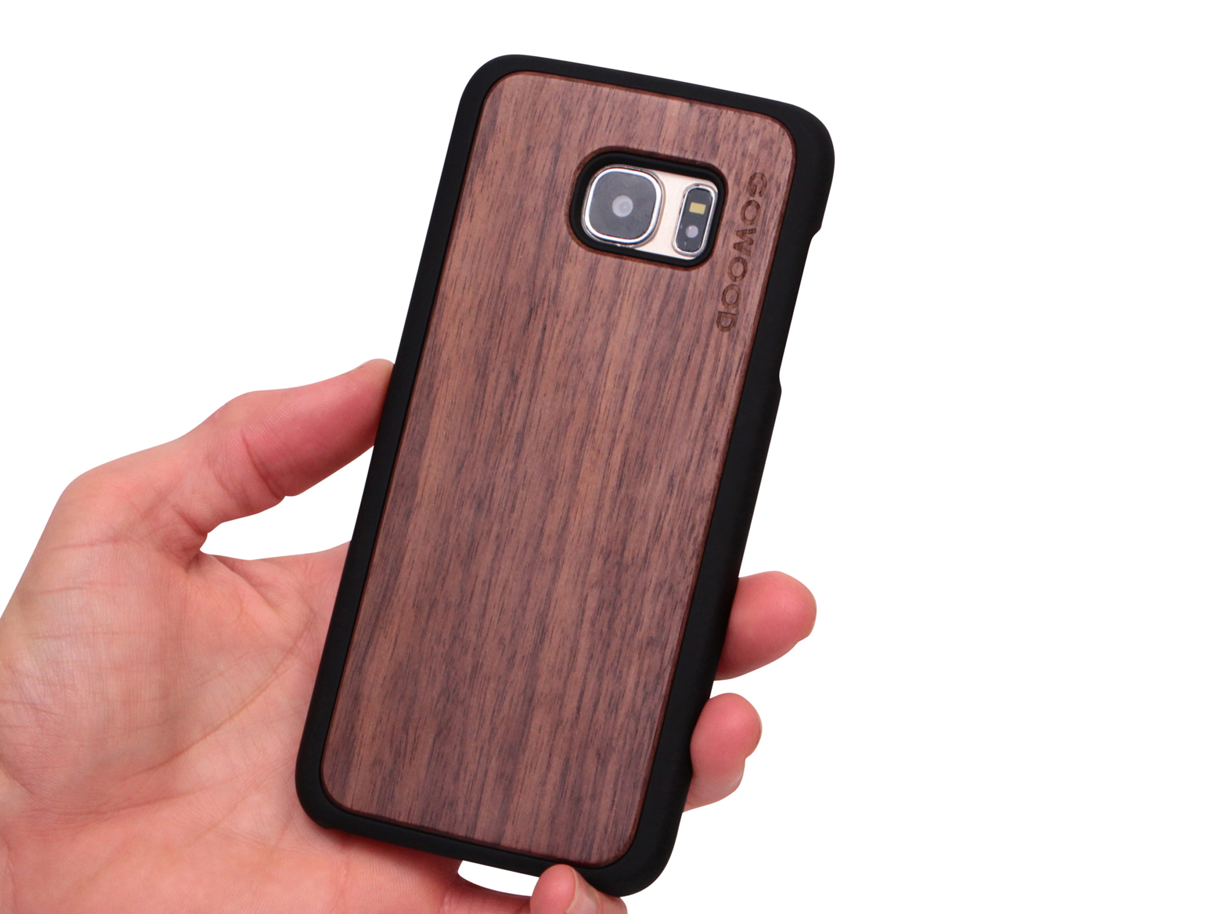 Samsung Galaxy S7 Edge wood case walnut user 1