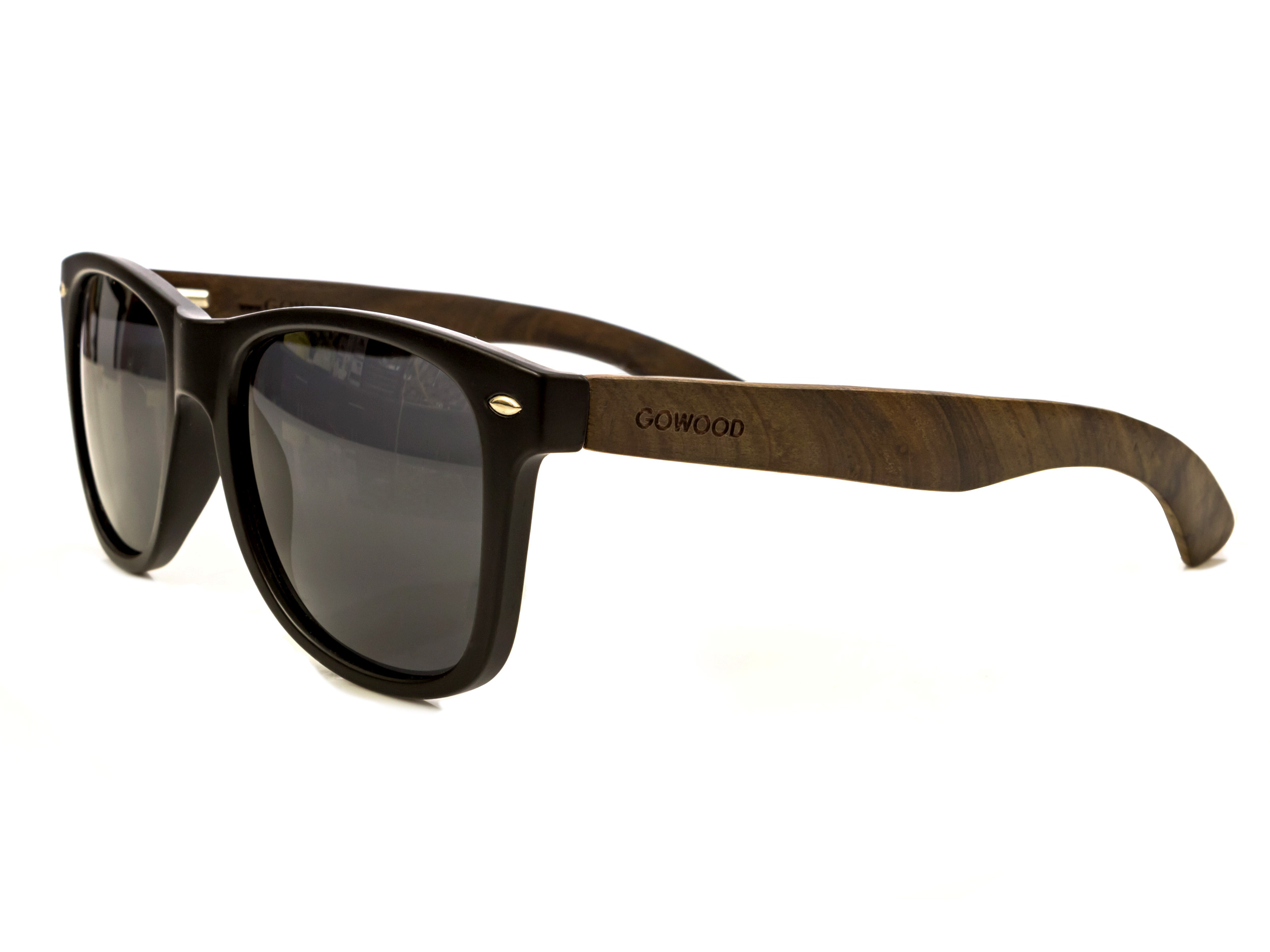 85ce783997 Classic wayfarer sunglasses with ebony legs and black front with polarized  lenses  Los Angeles IV