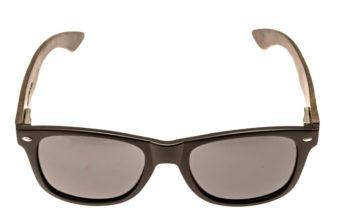 classic wayfarer sunglasses with ebony legs front