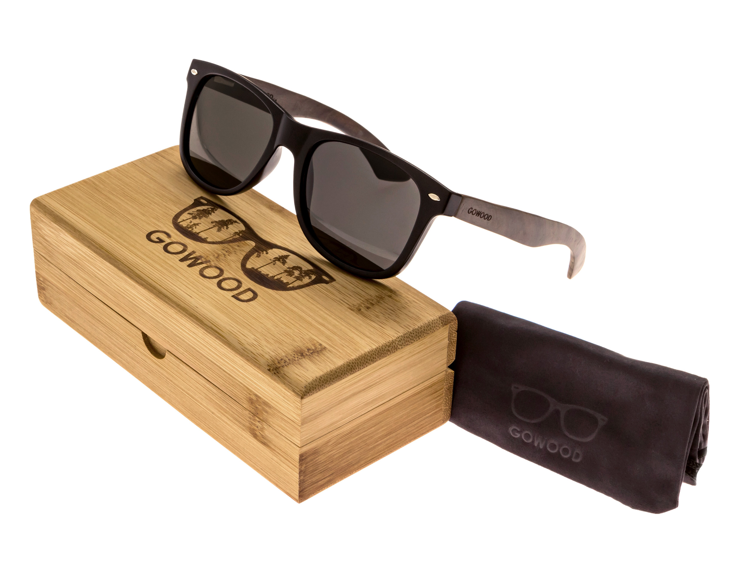 classic wayfarer sunglasses ebony set