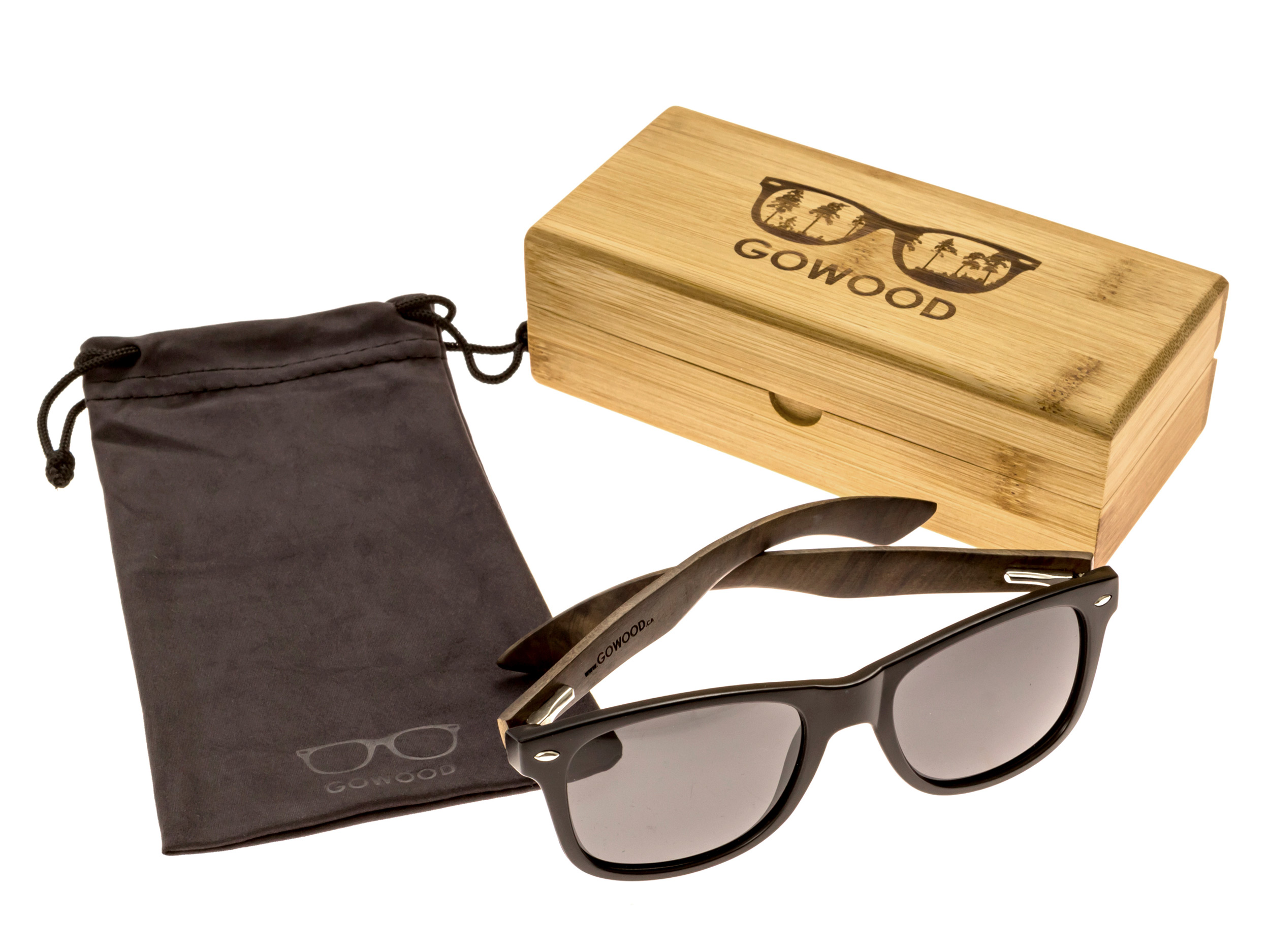 classic wayfarer sunglasses with ebony legs set 2
