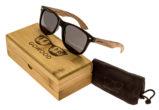 classic wayfarer sunglasses with zebra wood legs set