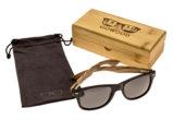 classic wayfarer sunglasses with zebra wood legs set 2