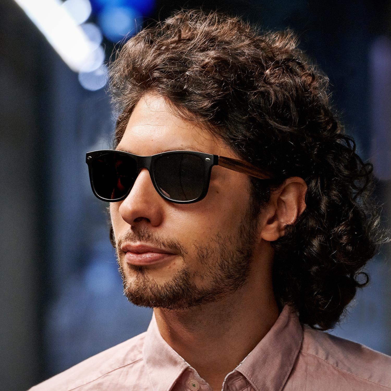 Zebra wayfarer sunglasses model