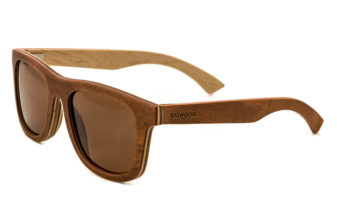 Skateboard wood sunglasses Toulouse angle