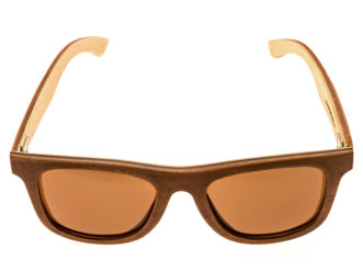 Skateboard wood sunglasses Toulouse front