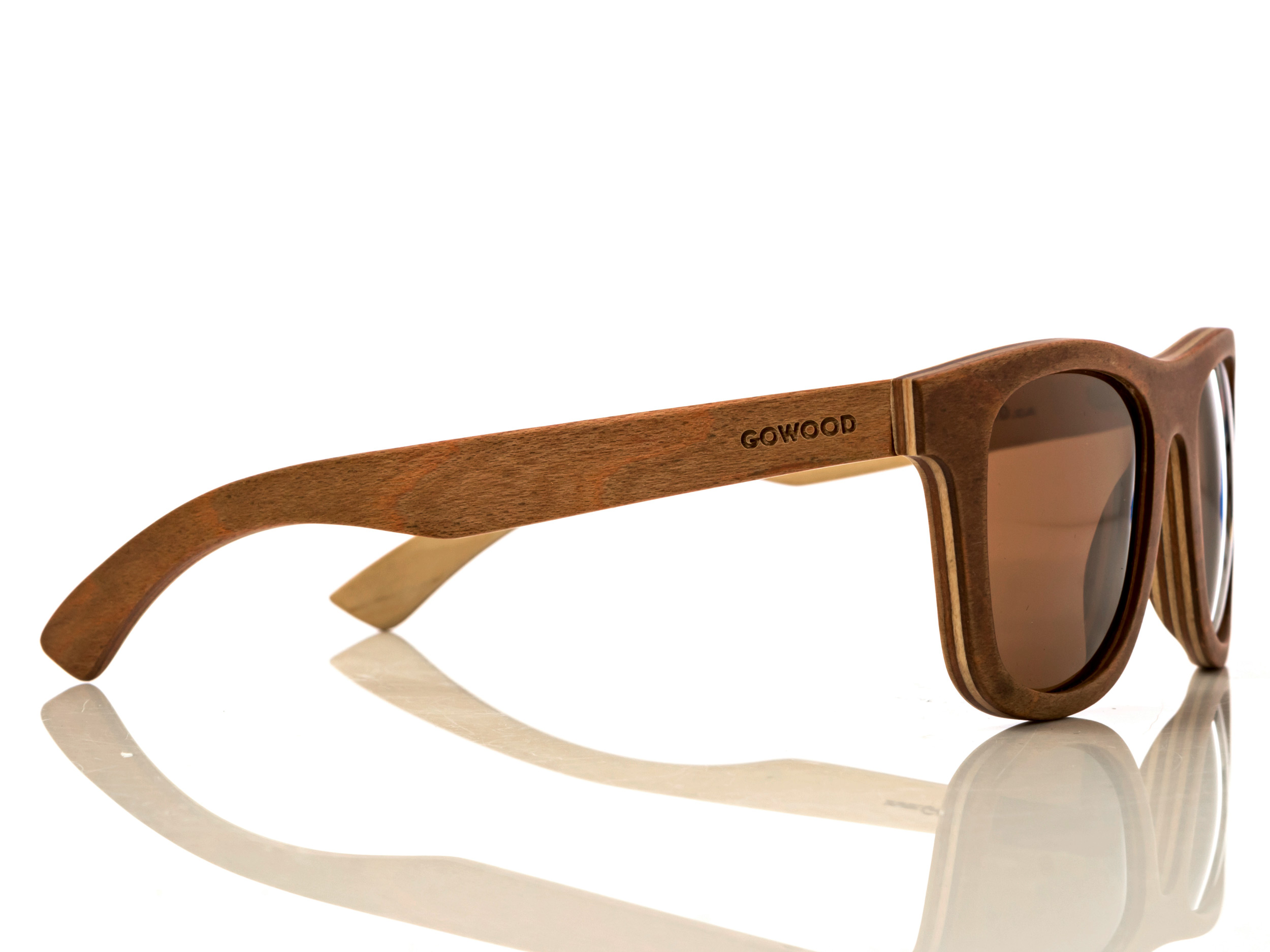 Skateboard wood sunglasses Toulouse right