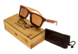 Skateboard wood sunglasses Toulouse set
