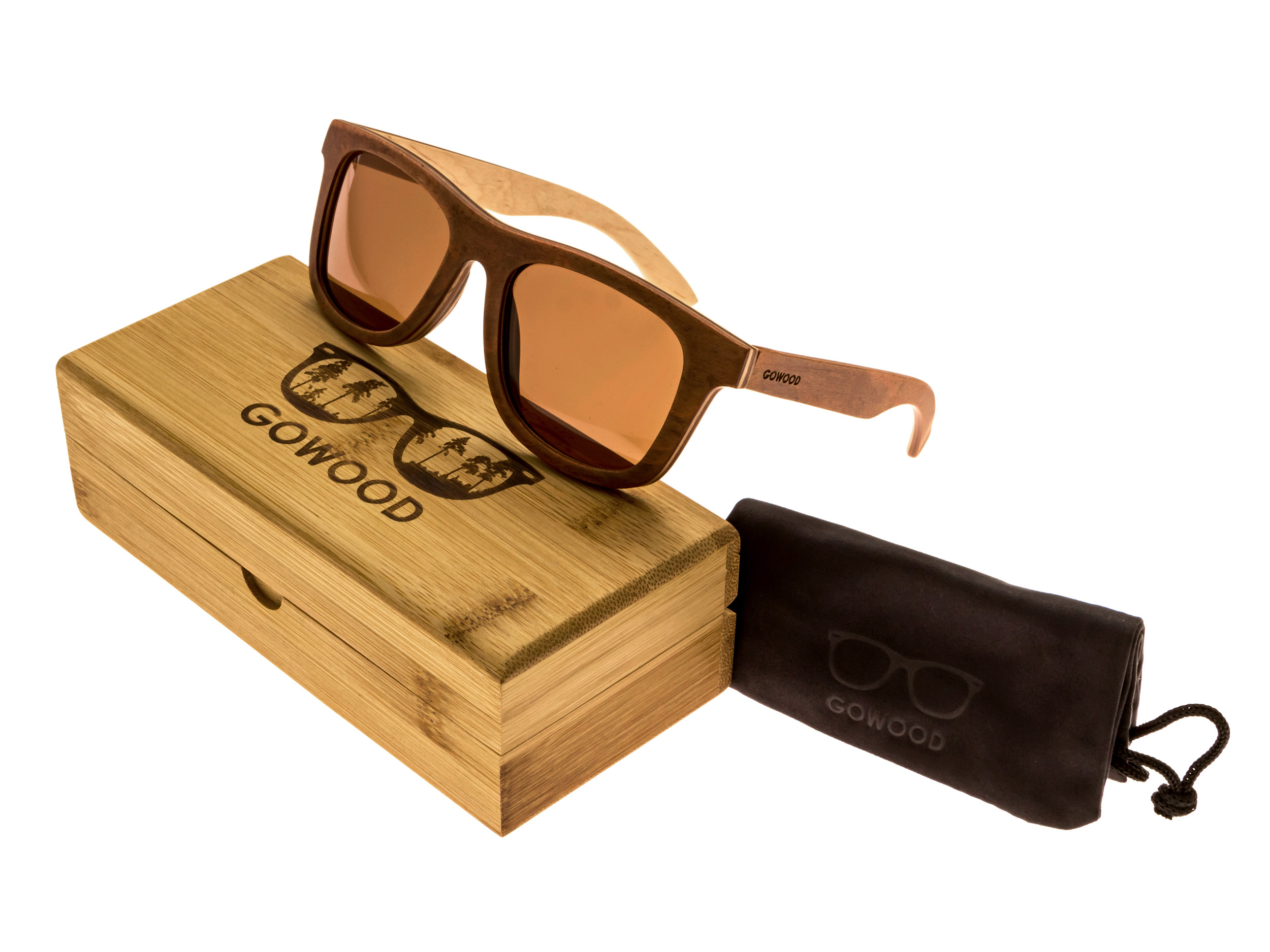 Skateboard wood sunglasses Toulouse set