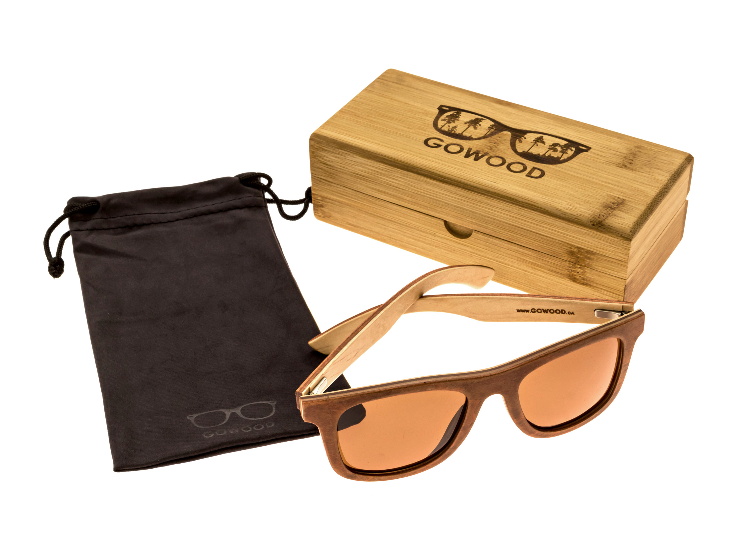 Skateboard wood sunglasses Toulouse set 2