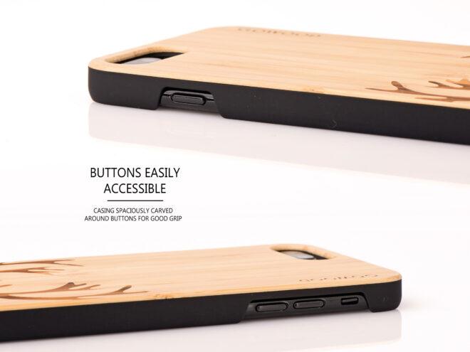 étui iPhone 7 Plus et 8 Plus bambou chevreuil