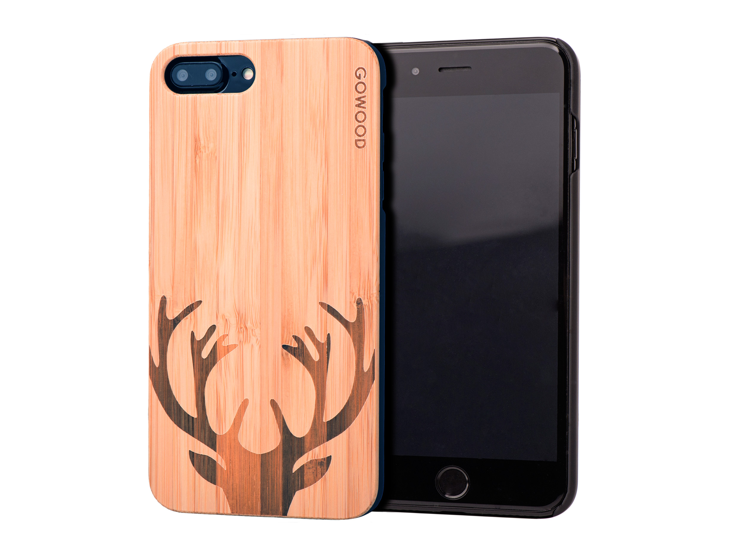 iPhone 7 Plus and 8 Plus wood case deer