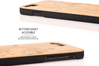 iPhone 7 Plus and 8 Plus wood case map - buttons