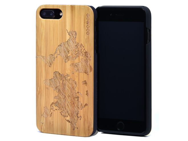 iPhone 7 Plus and 8 Plus bamboo wood case tree