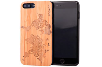 iPhone 7 Plus and 8 Plus wood case map