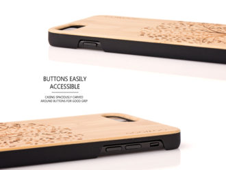 iPhone 7 Plus and 8 Plus wood case tree - buttons