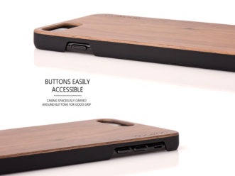 iPhone 7 Plus and 8 Plus wood case walnut - buttons