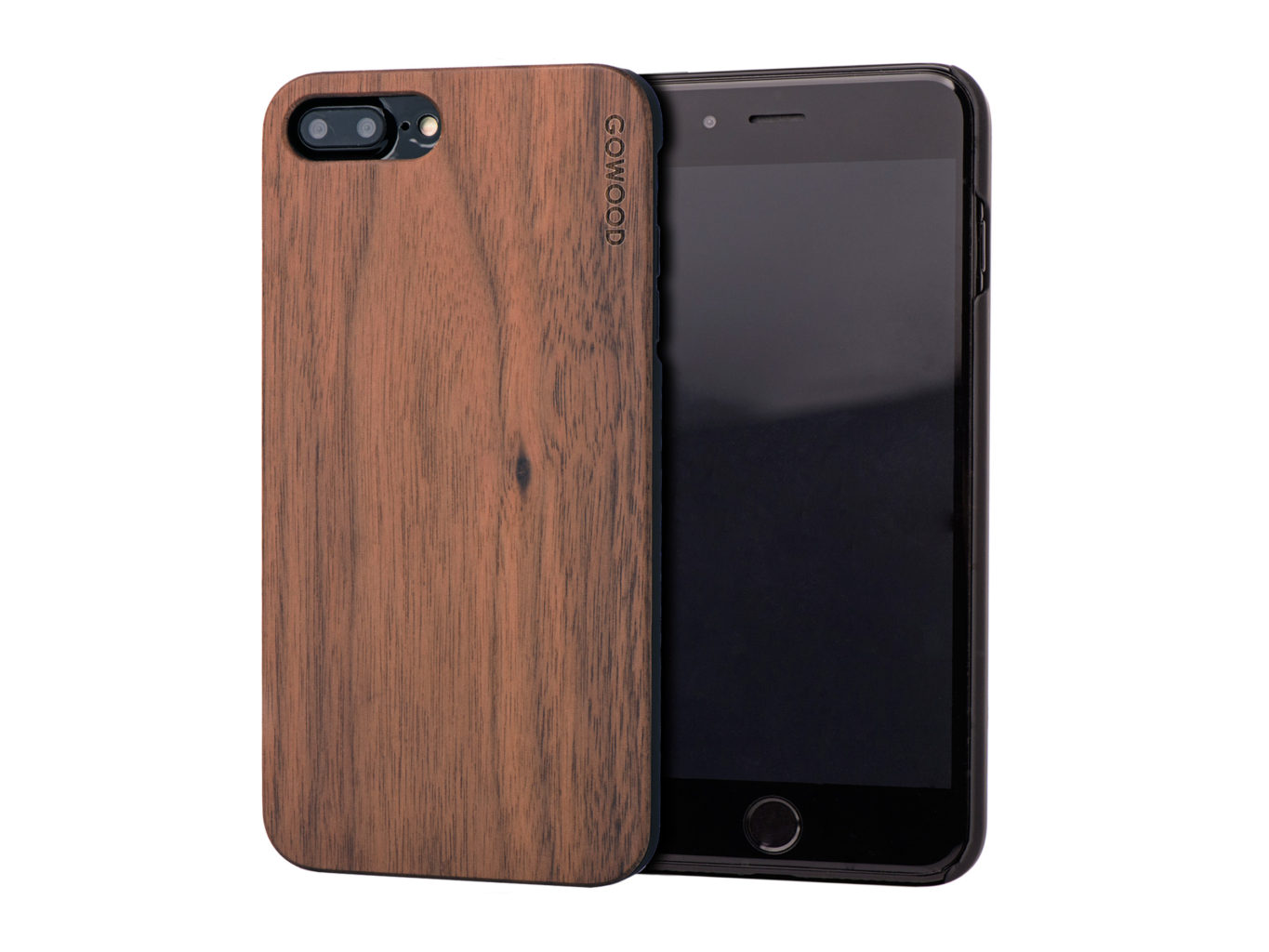 iphone wood case iphone 7 plus and 8 plus wood walnut go wood 12505