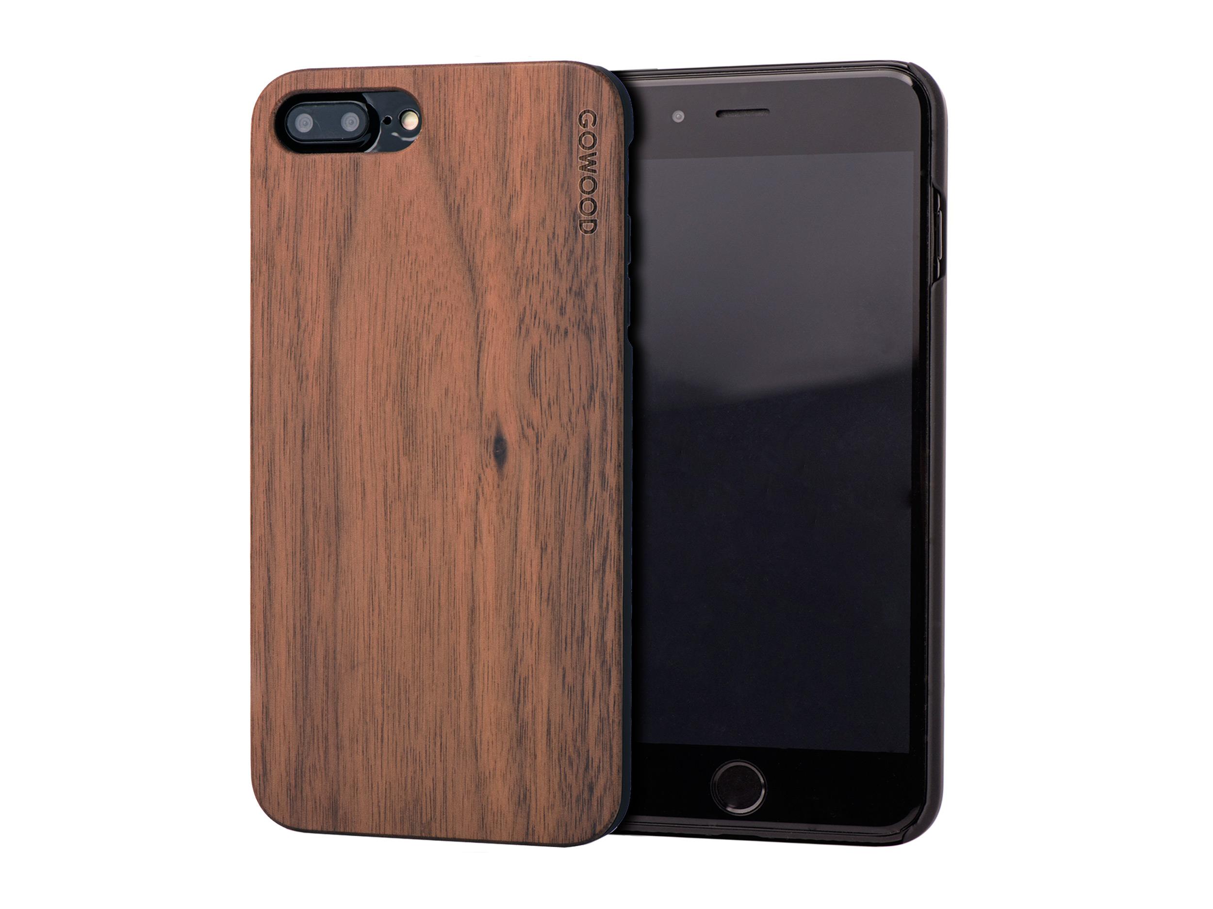tui iphone 7 plus et 8 plus en bois noyer go wood. Black Bedroom Furniture Sets. Home Design Ideas