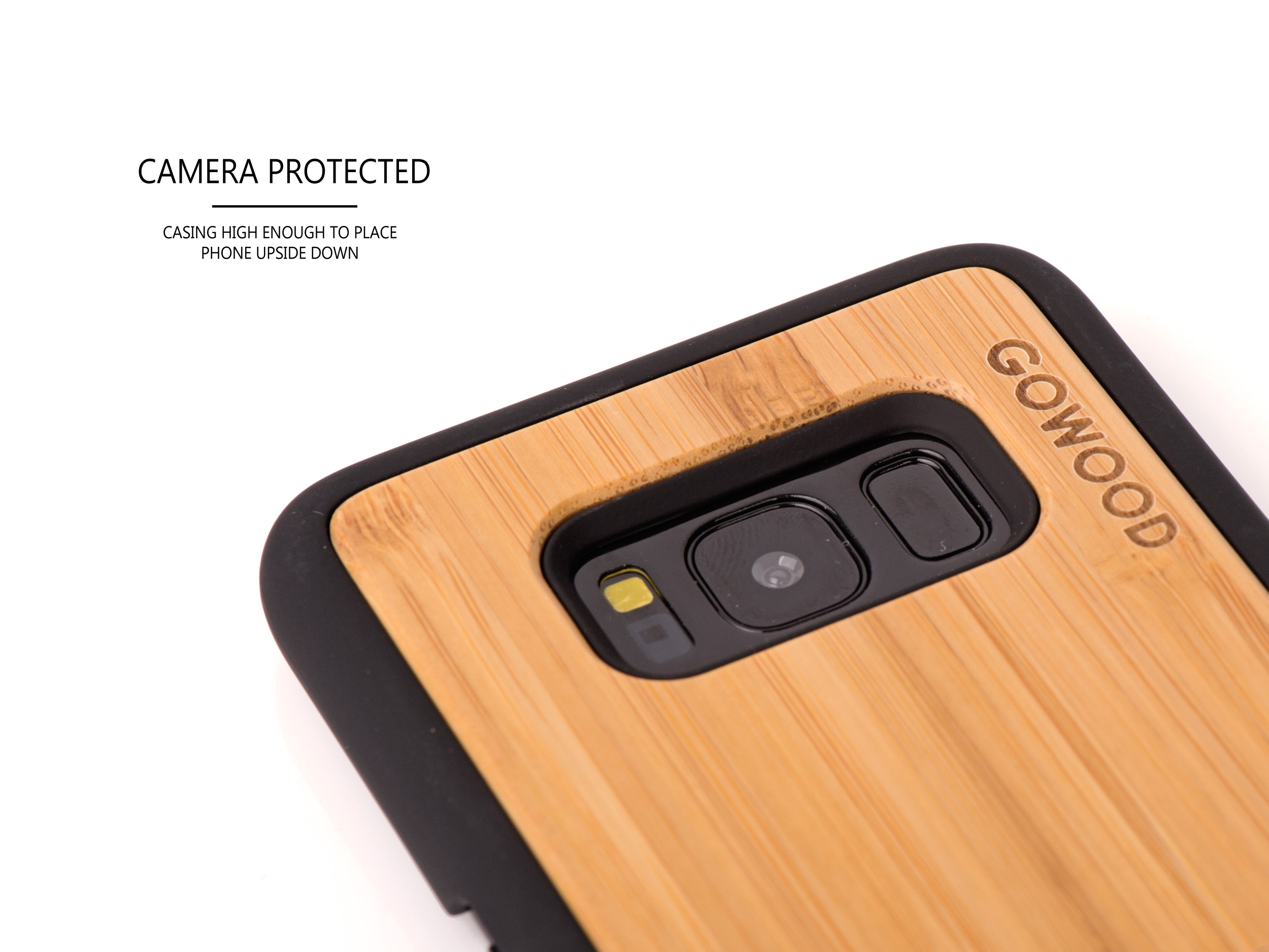 Samsung Galaxy S8 wood case - camera