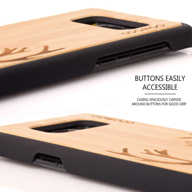 Samsung Galaxy S8 wood case - buttons