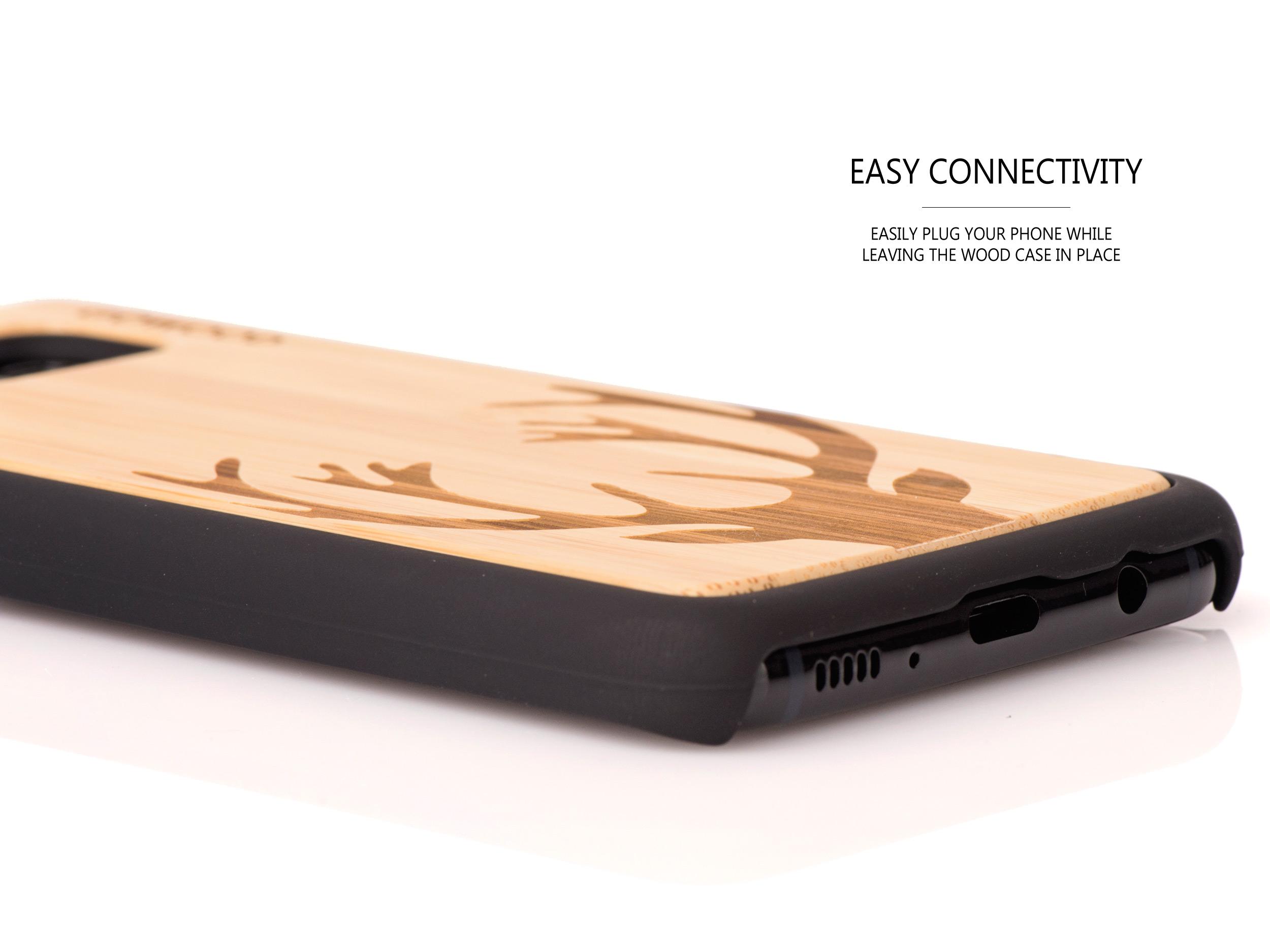 Samsung Galaxy S8 wood case - socket