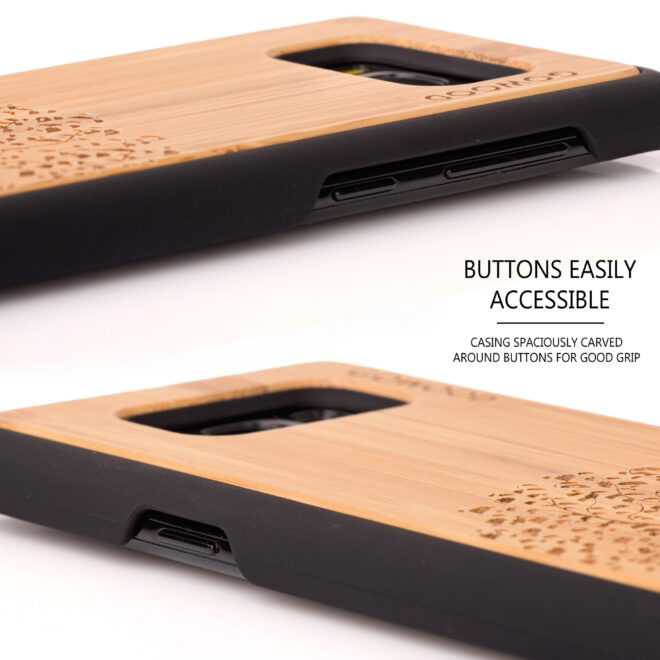 Samsung Galaxy S8 wood case tree - buttons