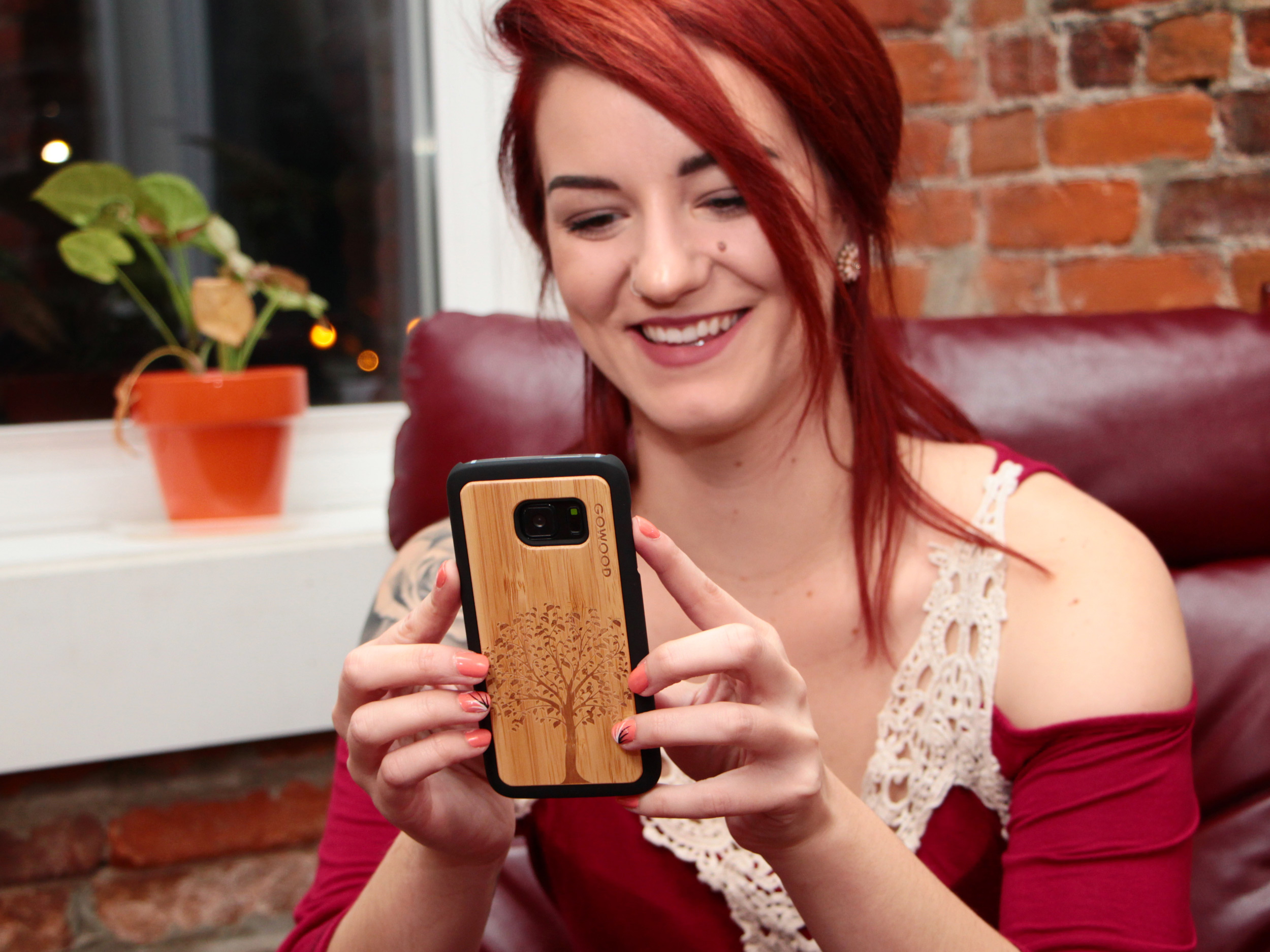 Samsung Galaxy S8 wood case tree