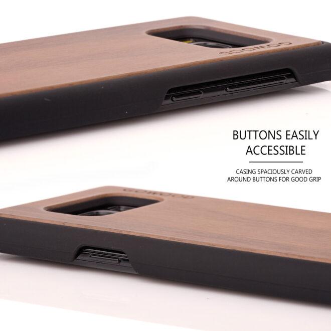 Samsung Galaxy S8 wood case walnut - buttons