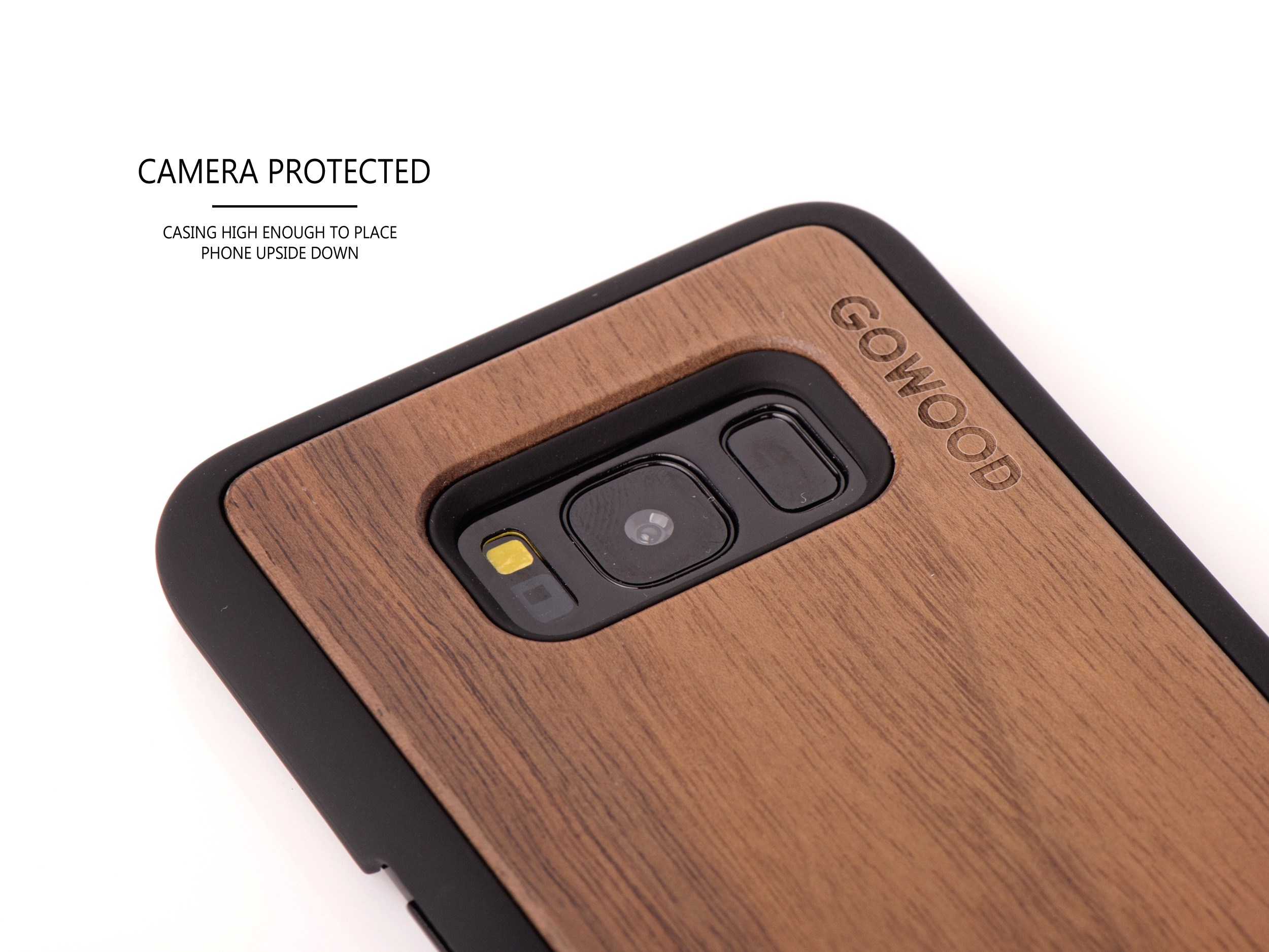 Samsung Galaxy S8 wood case walnut - camera