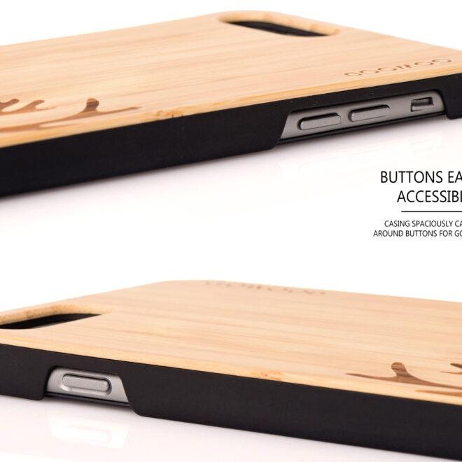 Étui iPhone 6 Plus en bois chevreuil
