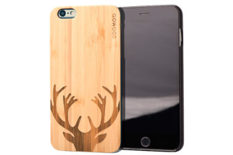iPhone 6 Plus wood case deer