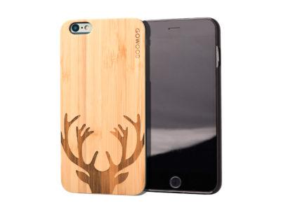 iPhone 6 Plus wood case deer