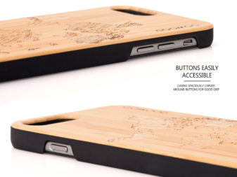 iPhone 6 Plus wood case map buttons