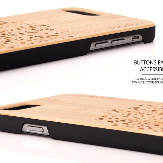 Étui iPhone 6 Plus en bois arbre