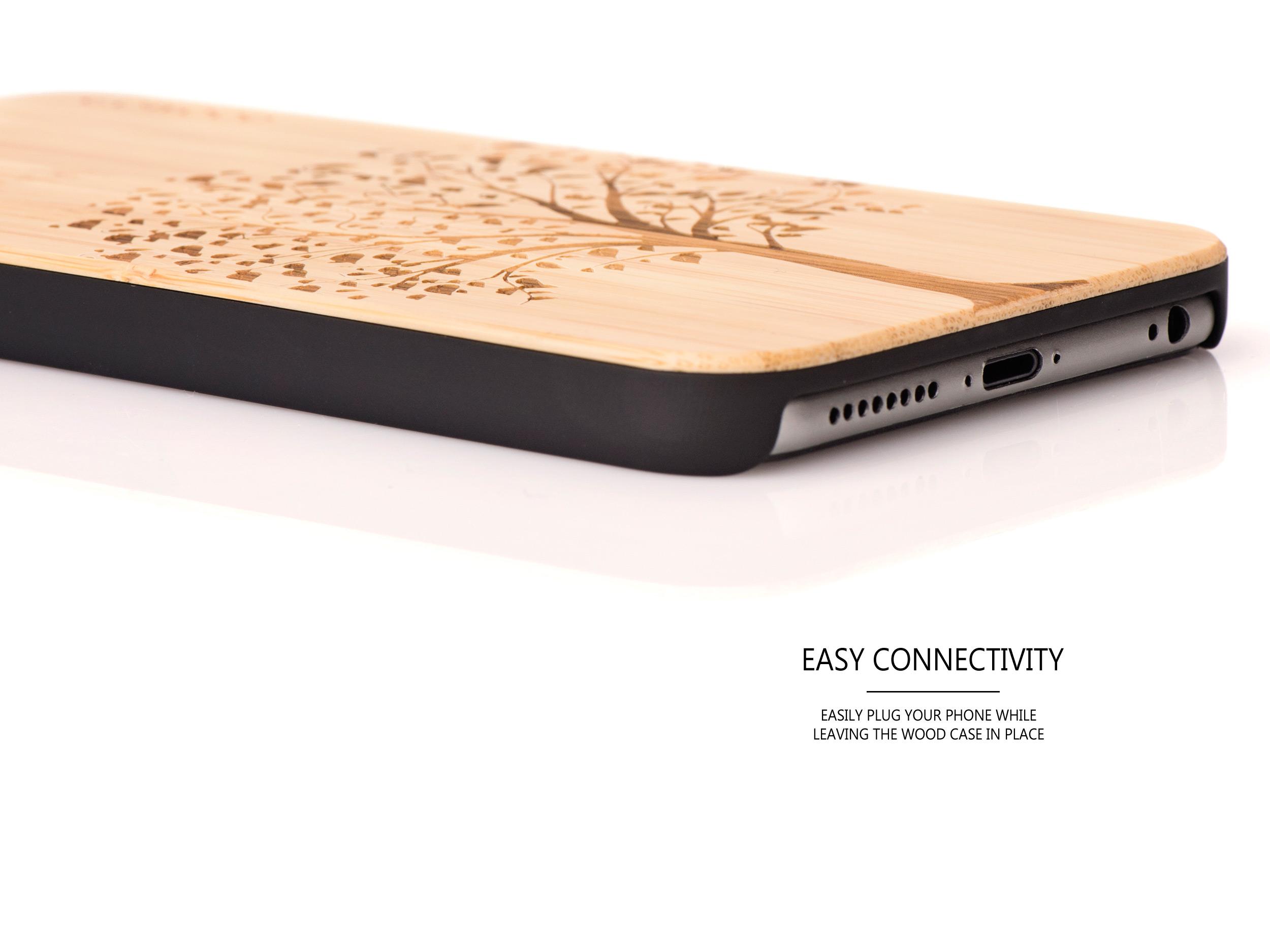 iPhone 6 Plus wood case tree connectivity