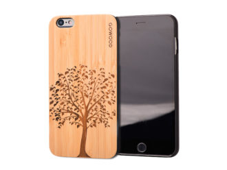 iPhone 6 Plus wood case tree