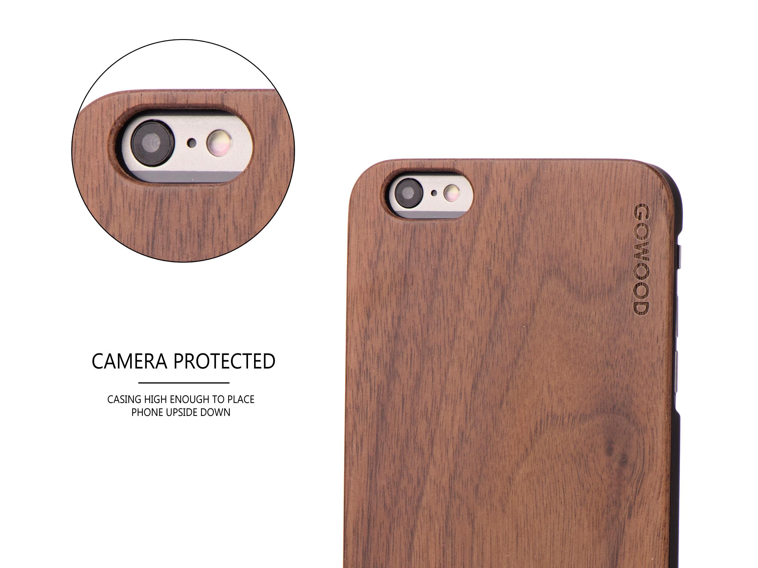 iPhone 6 Plus wood case walnut camera
