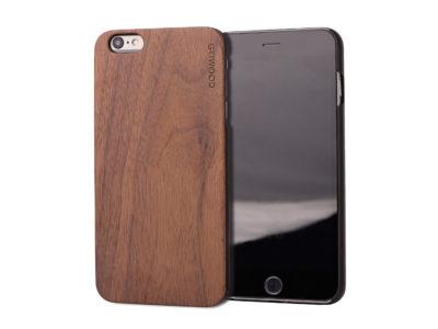 Étui iPhone 6 Plus en bois noyer