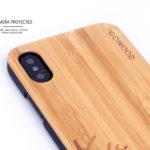 iPhone X wood case bamboo deer camera