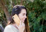 iPhone X wood case bamboo deer