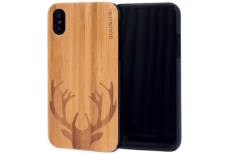 iPhone X wood case bamboo deer