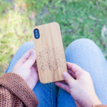 iPhone X wood case bamboo tree model