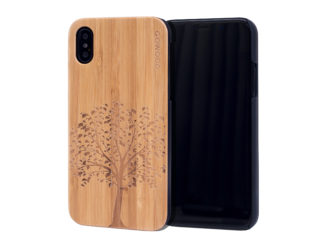 iPhone X and XS wood case bamboo tree