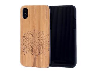 étui iPhone X en bois bambou arbre
