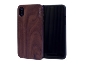 iPhone X wood case walnut