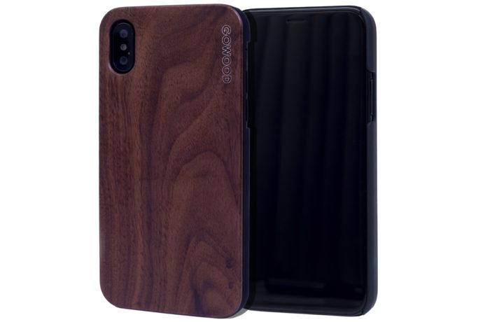 iPhone X wood case walnut