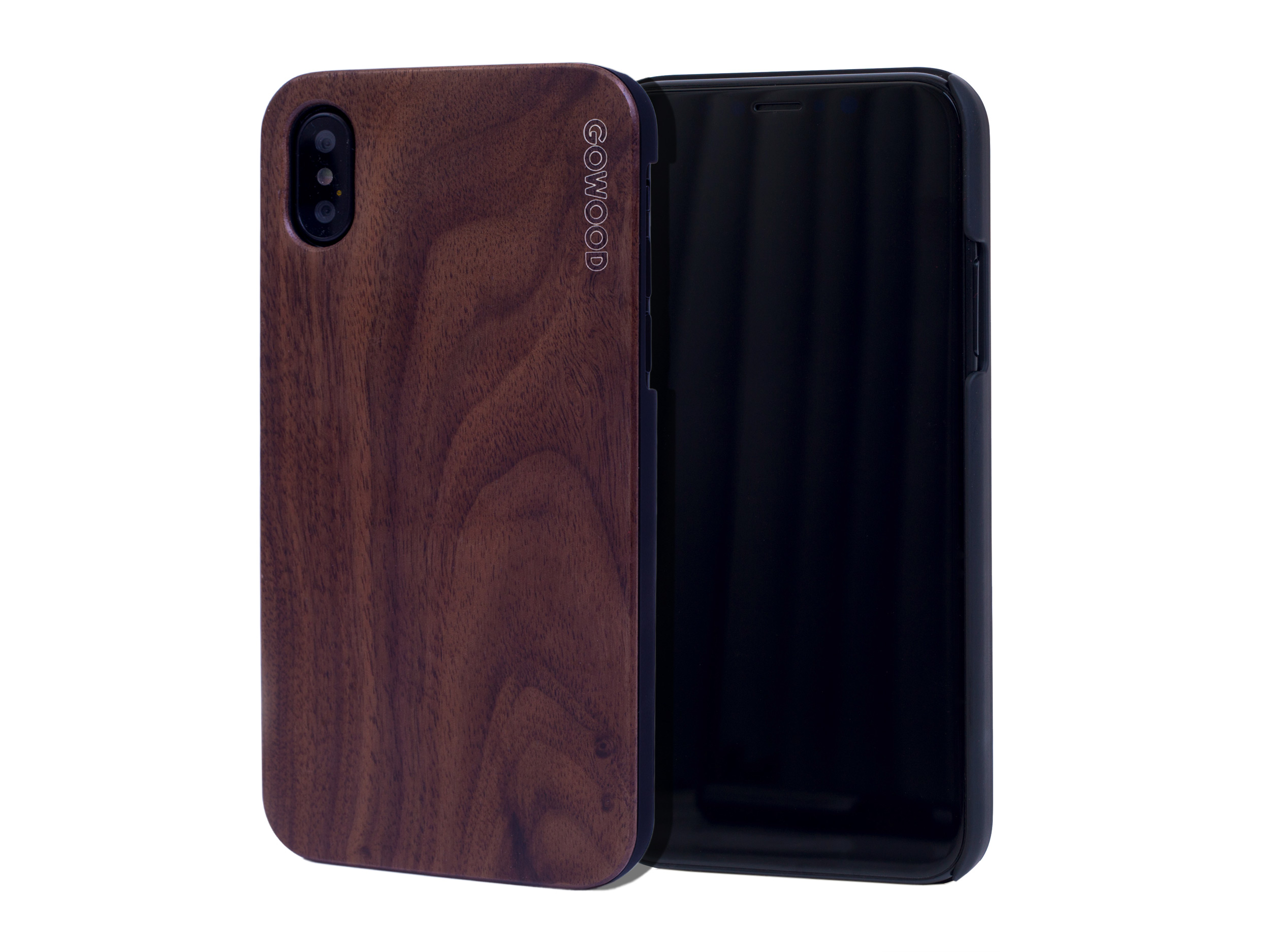 iPhone X and XS wood case walnut