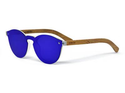round bamboo wood sunglasses