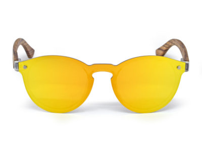 round zebra wood sunglasses